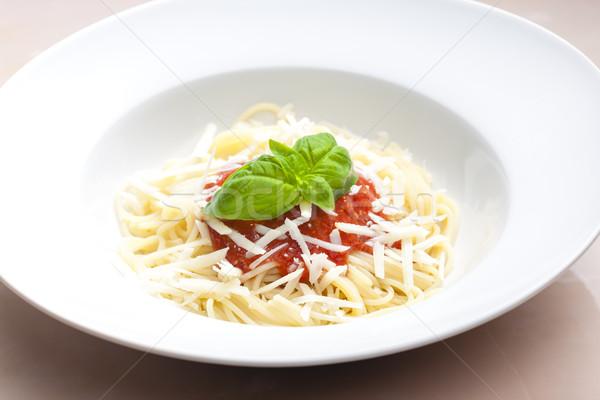Spaghetti piatto verdura erbe pasto sani Foto d'archivio © phbcz