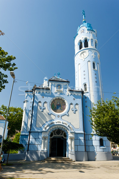 Church of Saint Elizabeth Hungarian called Blue Church, Bratisla Stock photo © phbcz