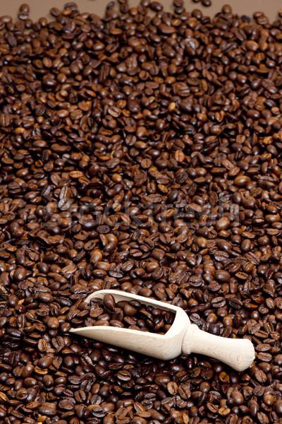 Stilleven koffiebonen cafe object bruin binnenkant Stockfoto © phbcz