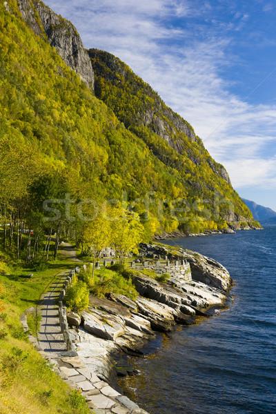 風景 ノルウェー 海 緑 青 風景 ストックフォト © phbcz