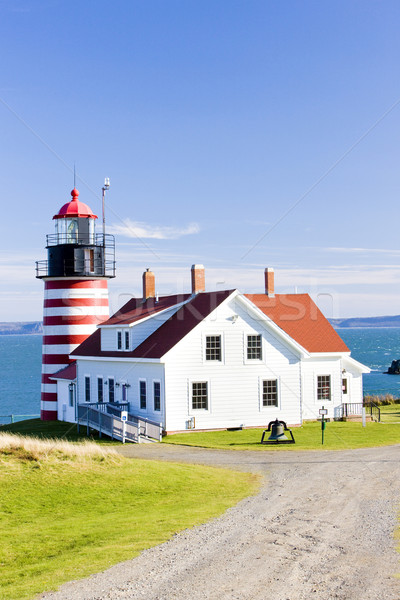Stock photo: West Quoddy Head Lighthouse, Maine, USA