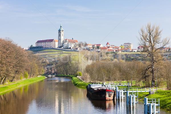 замок Чешская республика здании судно реке архитектура Сток-фото © phbcz