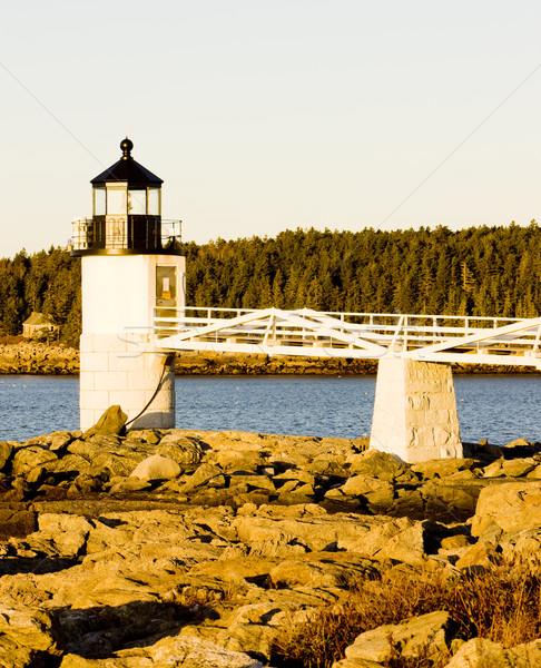 Marshall Point Lighthouse, Maine, USA Stock photo © phbcz