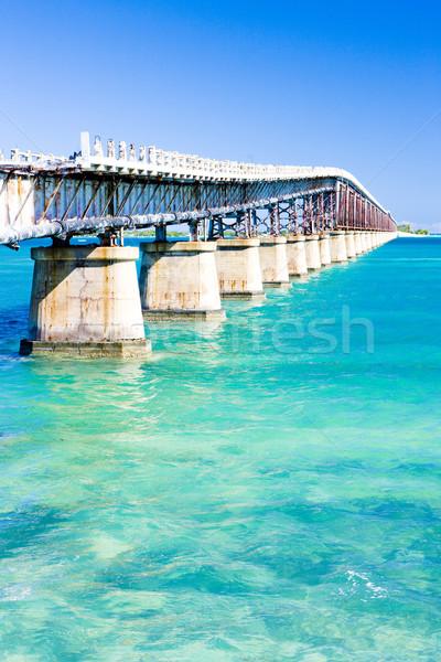 Stock fotó: öreg · út · híd · kapcsolódik · Florida · kulcsok