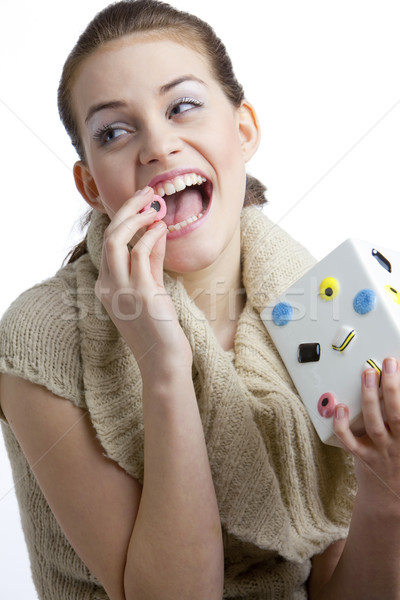 Portret kobieta lukrecja młodych sam Zdjęcia stock © phbcz