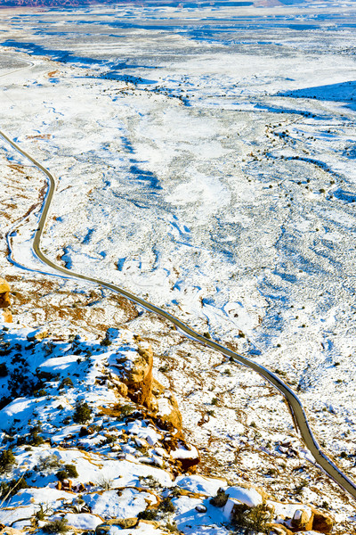 дороги Юта США пейзаж снега молчание Сток-фото © phbcz