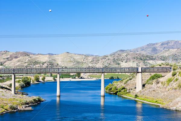 ストックフォト: 鉄道 · 谷 · ポルトガル · 自然 · 橋 · 川