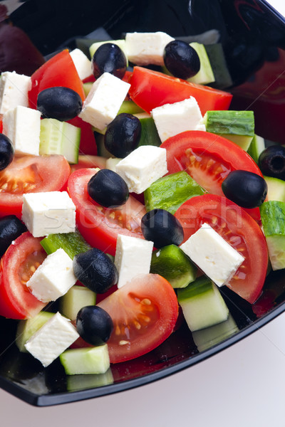 Grec salade alimentaire fromages légumes olive Photo stock © phbcz