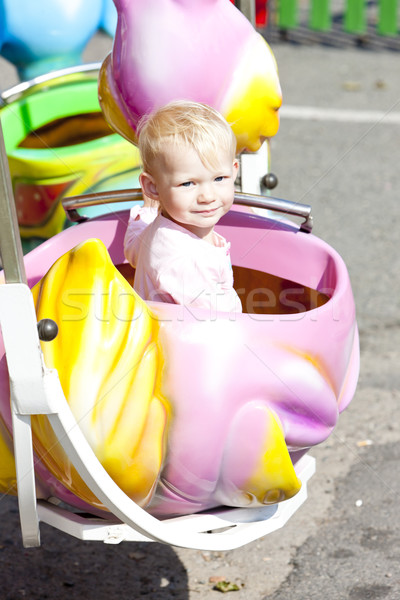 女の子 回転木馬 少女 子 再生 人 ストックフォト © phbcz