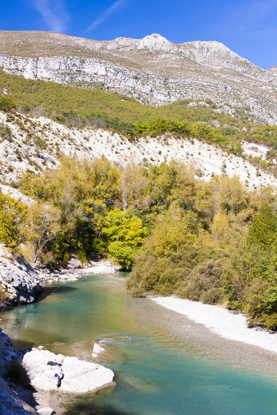 Verdon Gorge in autumn, Provence, France Stock photo © phbcz