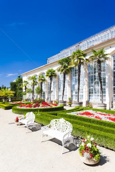 Flower garden of Kromeriz Palace, Czech Republic Stock photo © phbcz