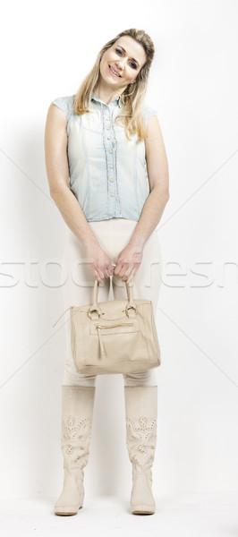 Permanent femme été bottes sac à main Photo stock © phbcz