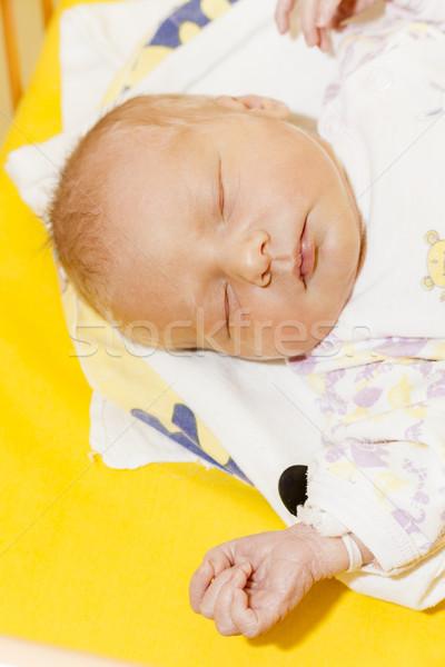 Foto d'archivio: Ritratto · materna · ospedale · ragazza