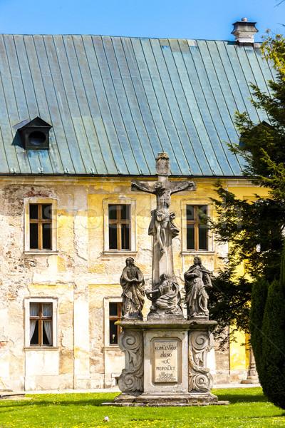 Kolostor Csehország építészet szobor történelem kint Stock fotó © phbcz