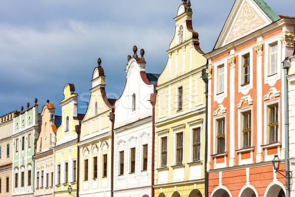 Stock photo: renaissance houses in Telc, Czech Republic