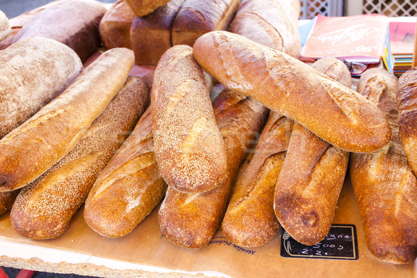 pastry, market in Nyons, Rhone-Alpes, France Stock photo © phbcz