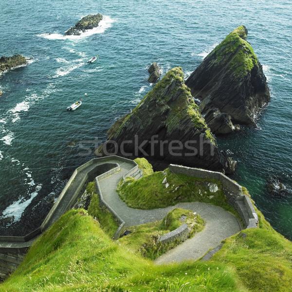 морской пейзаж Ирландия морем путешествия ландшафты пород Сток-фото © phbcz