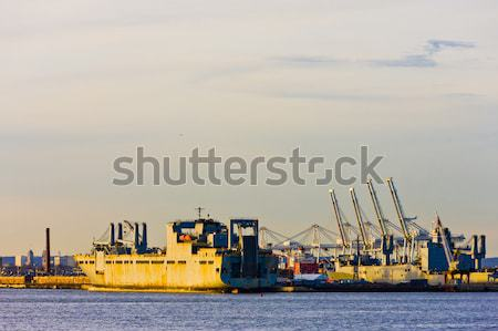 Haven New York USA zee industrie schip Stockfoto © phbcz