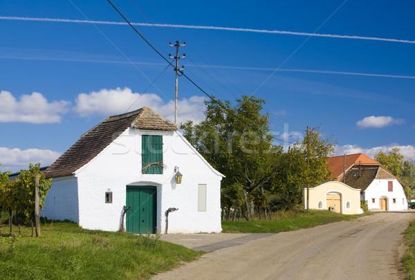 şarap Avusturya Bina köy açık dışında Stok fotoğraf © phbcz