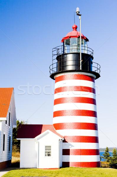 Stok fotoğraf: Batı · kafa · deniz · feneri · Maine · ABD · Bina