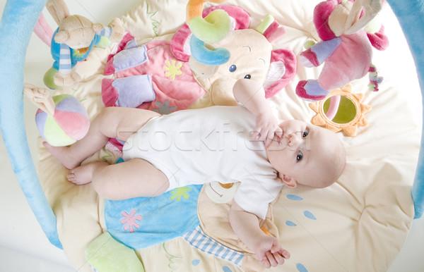 Spelen kinderen kind meisjes Stockfoto © phbcz
