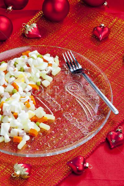 traditional Czech Christmas potato salad Stock photo © phbcz