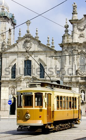 tram in front of Carmo Church (Igreja do Carmo), Porto, Douro Pr Stock photo © phbcz
