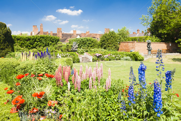 Nash house and New Place garden, Stratford-upon-Avon, Warwickshi Stock photo © phbcz
