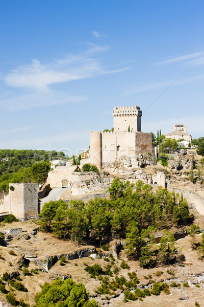 Marques de Villena Castle, Alarcon, Castile-La Mancha, Spain Stock photo © phbcz
