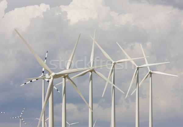 wind turbines, Aragon, Spain Stock photo © phbcz