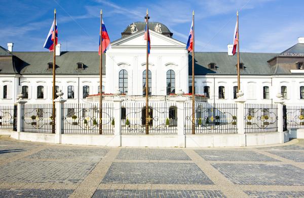 Prezidential palat pătrat Bratislava Slovacia Imagine de stoc © phbcz