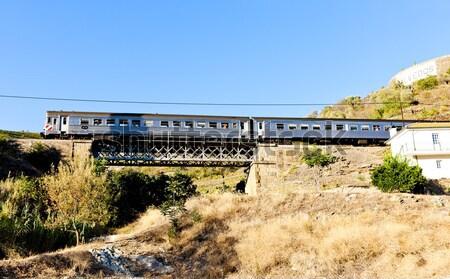 поезд железная дорога долины Португалия моста путешествия Сток-фото © phbcz