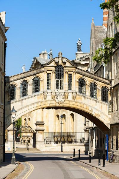 Híd Oxford Oxfordshire Anglia épület város Stock fotó © phbcz