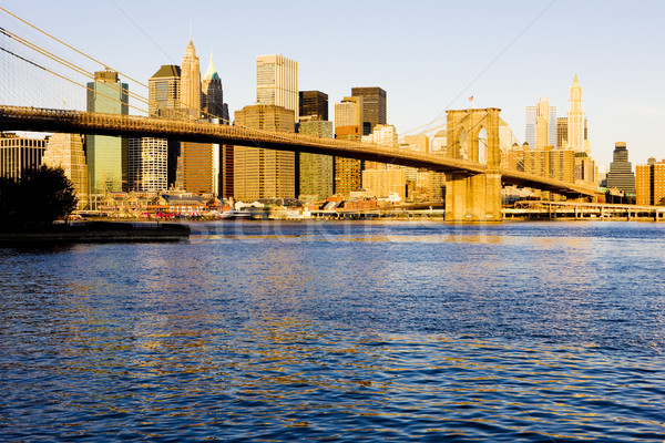 Manhattan with Brooklyn Bridge, New York City, USA Stock photo © phbcz