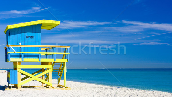 Cabine plage Miami Floride USA mer Photo stock © phbcz