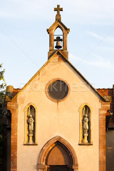 chapel near Ortenbourg, Alsace, France Stock photo © phbcz