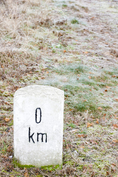 нулевой километр знак объект Открытый за пределами Сток-фото © phbcz