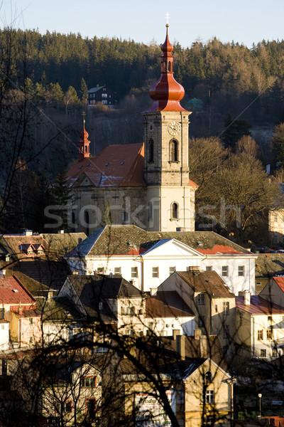 República Checa iglesia urbanas arquitectura casas ciudad Foto stock © phbcz