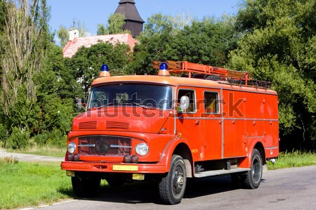 old fire engine, Czech Republic Stock photo © phbcz