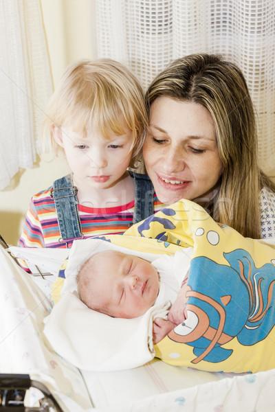 Retrato madre maternal hospital mujer familia Foto stock © phbcz