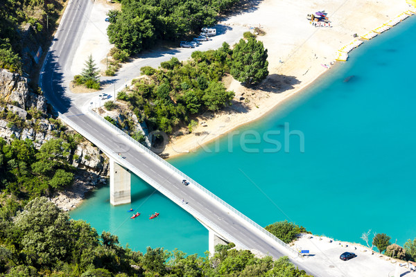 St Croix Lake, Verdon Gorge, Provence, France Stock photo © phbcz