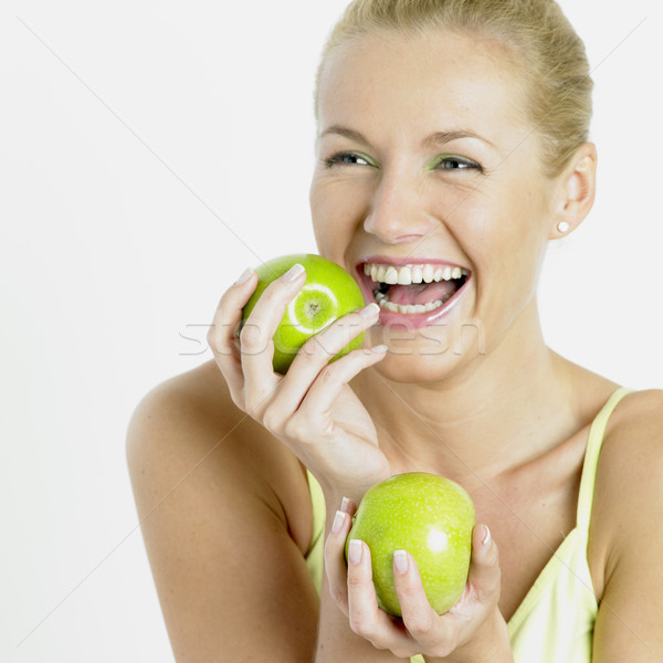 woman with apples Stock photo © phbcz