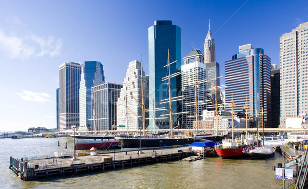 Pier 17 Manhattan New York City USA ville Photo stock © phbcz