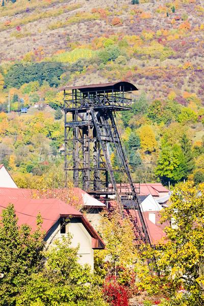 Vieux minière tour Slovaquie bâtiments automne Photo stock © phbcz
