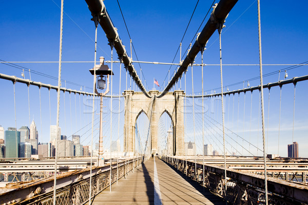 Stock photo: Brooklyn Bridge, Manhattan, New York City, USA