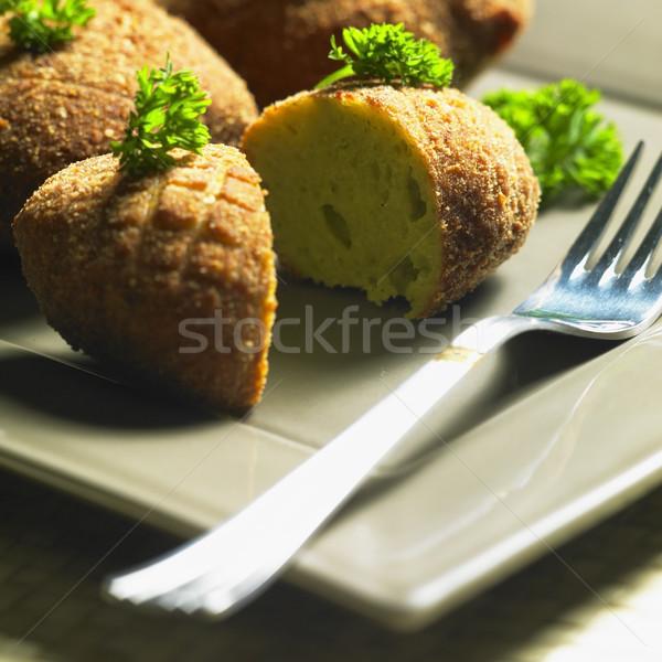broccoli rissoles Stock photo © phbcz