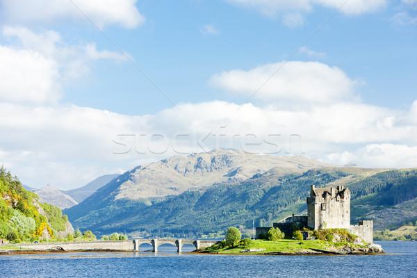 замок Шотландии путешествия гор озеро архитектура Сток-фото © phbcz
