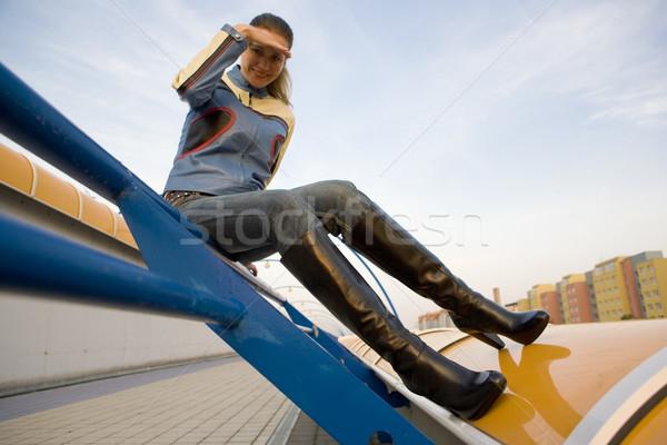 Femeie carcasa modă pantof singur Imagine de stoc © phbcz