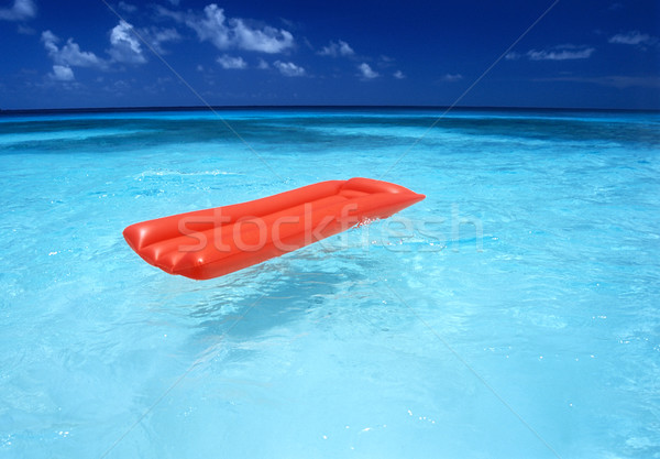 Levegő matrac víz tenger kék ünnep Stock fotó © phbcz