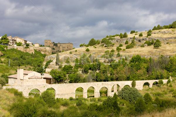 aqueduct, Pedraza de la Sierra, Segovia Province, Castile and Le Stock photo © phbcz